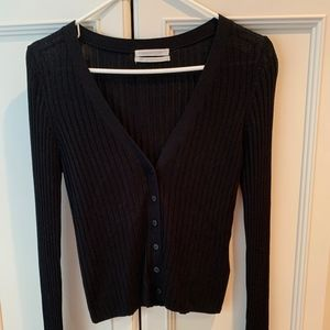 Urban Outfitters V-neck Black Cardigan